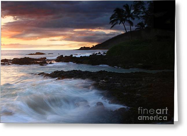 E Hamau O Makani Mai Auanei Aloha Paako Greeting Card by Sharon Mau