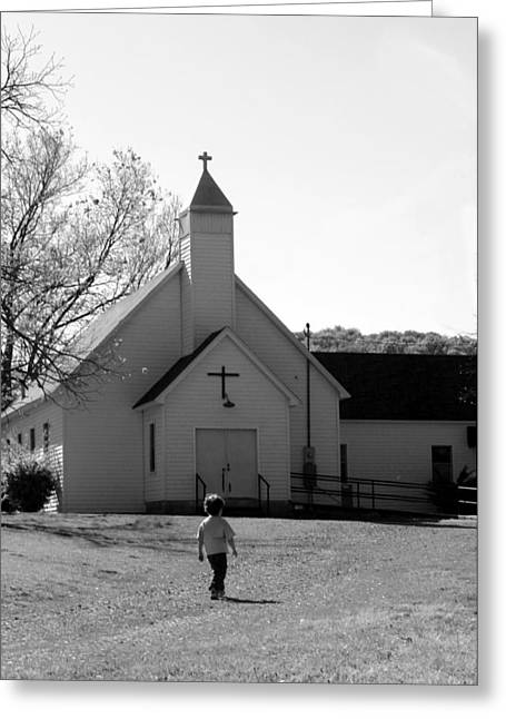 E-to-the-church Greeting Card by Curtis J Neeley Jr