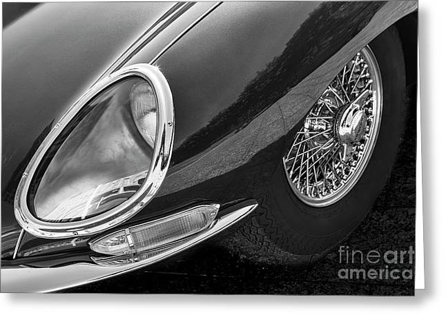 Greeting Card featuring the photograph E-type Monotone by Dennis Hedberg