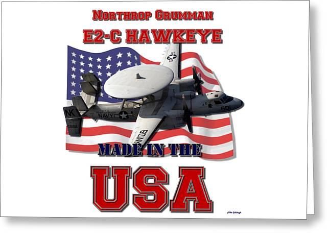 E2-c Hawkeye Made In The Usa Greeting Card