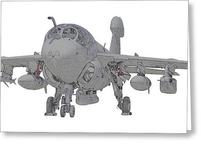 Ea-6b Up And Ready Greeting Card by Clay Greunke