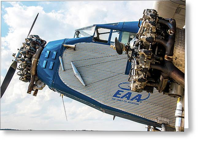 Eaa Ford Trimotor Aircraft Greeting Card