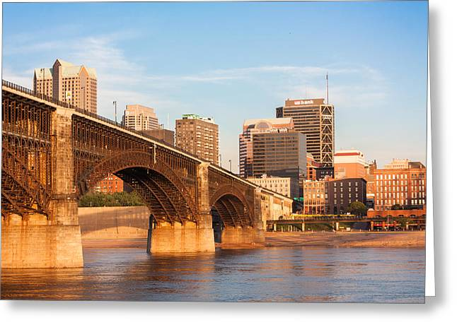 Eads Bridge At St Louis Greeting Card