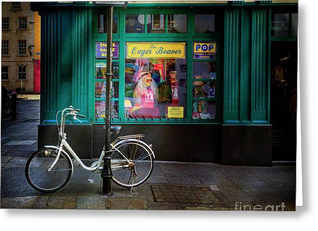 Greeting Card featuring the photograph Eager Beaver Bicycle by Craig J Satterlee