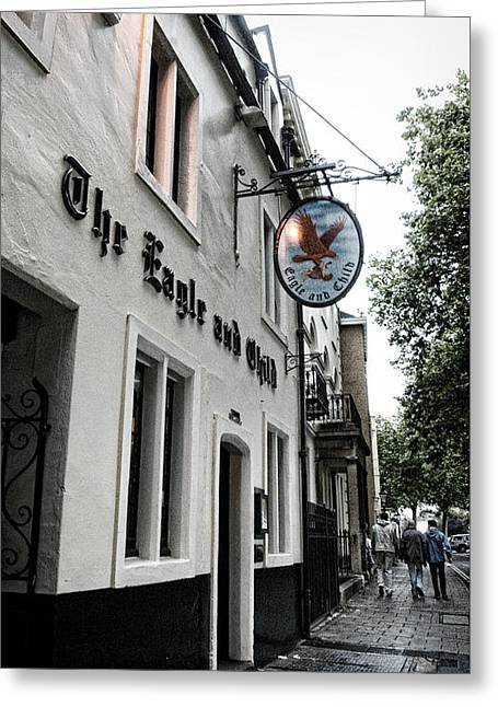 Eagle And Child Pub - Oxford Greeting Card by Stephen Stookey