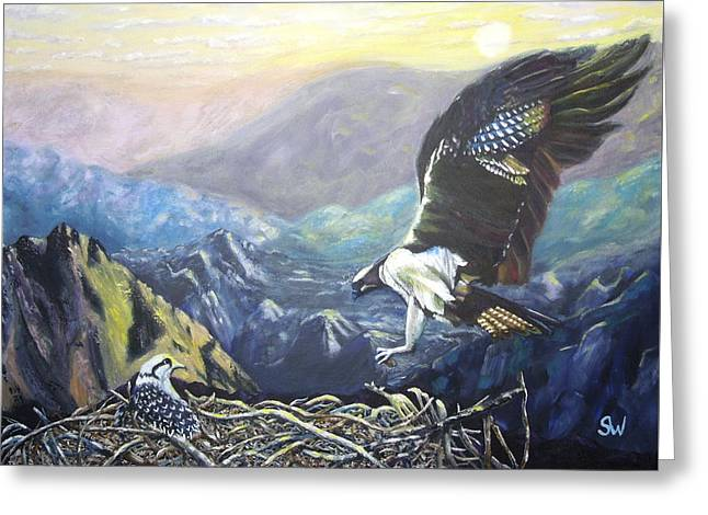 Eagle At Home Greeting Card