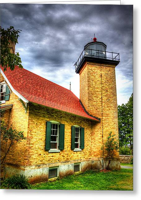 Eagle Bluff Lighthouse 2 Greeting Card by Robert Storost