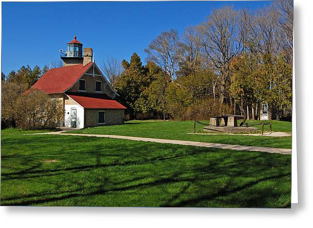 Eagle Bluff Lighthouse Greeting Card by Ben Prepelka