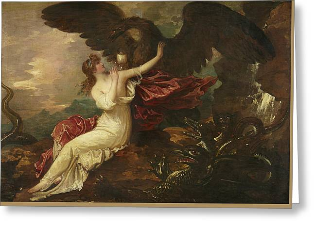 Eagle Bringing Cup To Psyche Greeting Card by Benjamin West