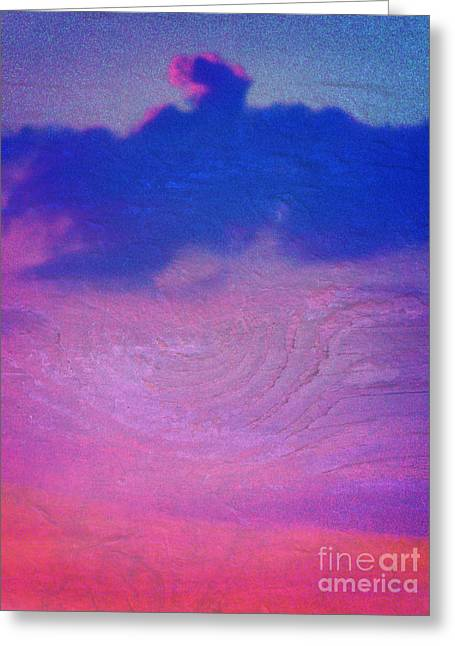 Eagle Cloud In The Sky Greeting Card by Rose  Hill