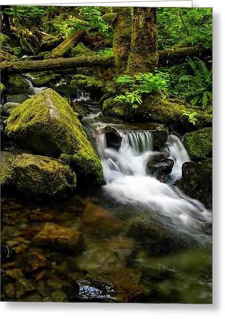 Eagle Creek Cascade Greeting Card