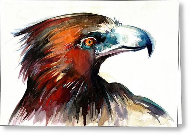 Eagle Head Detail Xxl Greeting Card by Tiberiu Soos