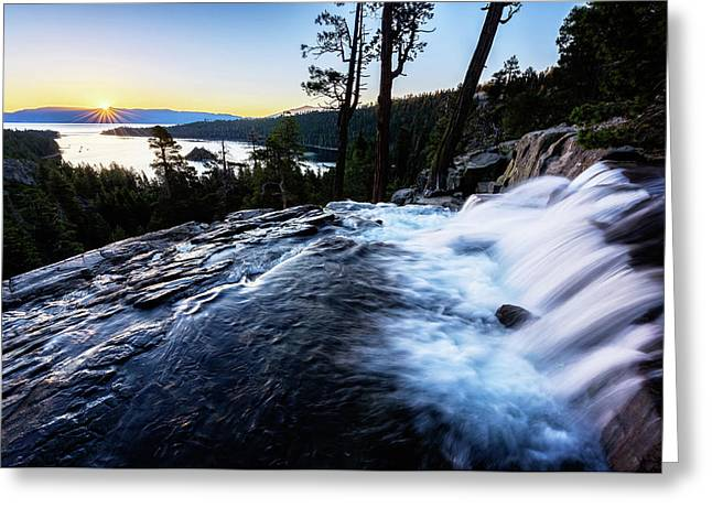 Greeting Card featuring the photograph Eagle Falls At Emerald Bay by John Hight