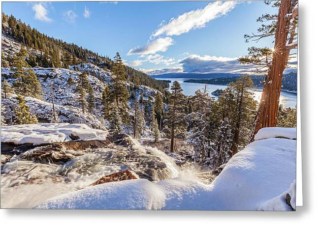 Greeting Card featuring the photograph Eagle Falls by Charles Garcia