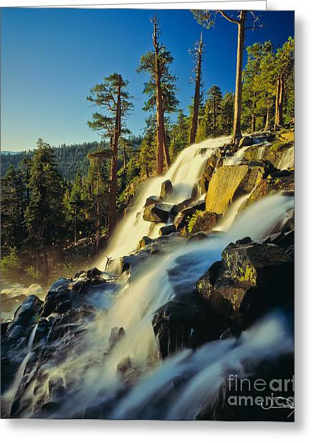 Eagle Falls Lake Tahoe Greeting Card by Vance Fox