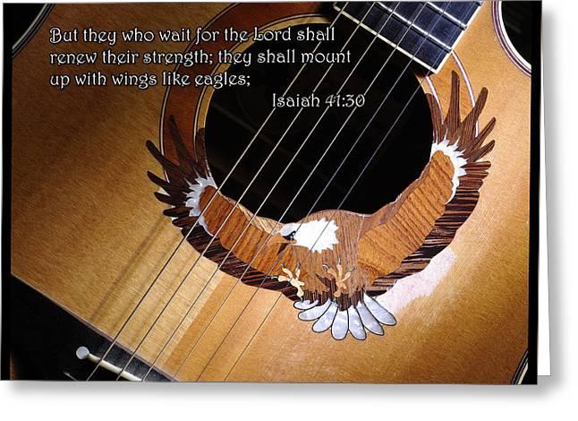Eagle Guitar Greeting Card