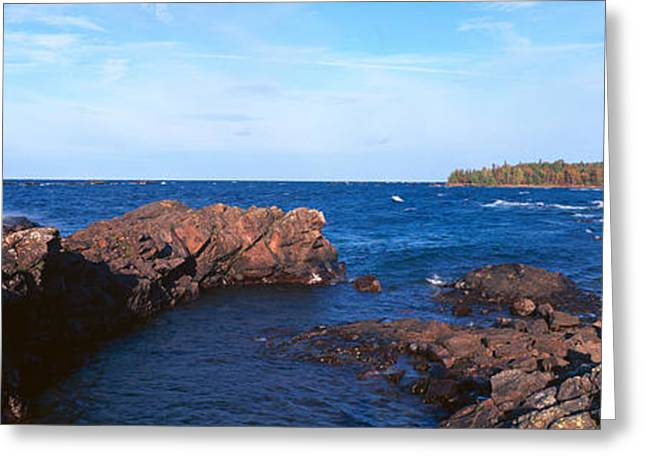 Eagle Harbor, Lake Superior, Michigan Greeting Card by Panoramic Images