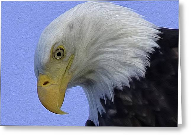 Eagle Head Paint Greeting Card
