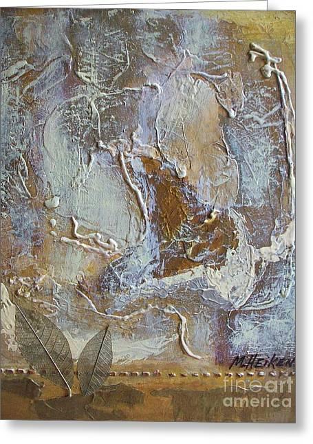 Eagle In Flight Greeting Card by Marsha Heiken