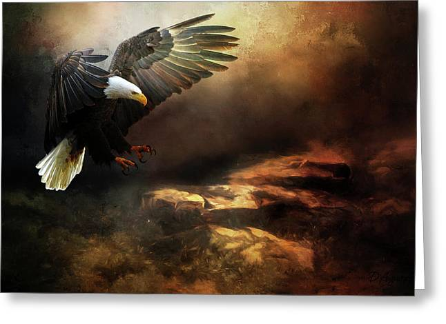 Eagle Is Landing Greeting Card