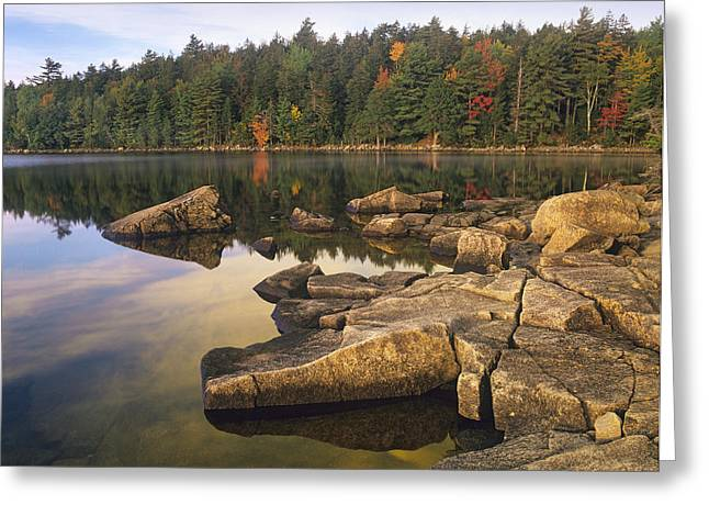 Eagle Lake Acadia National Park Maine Greeting Card