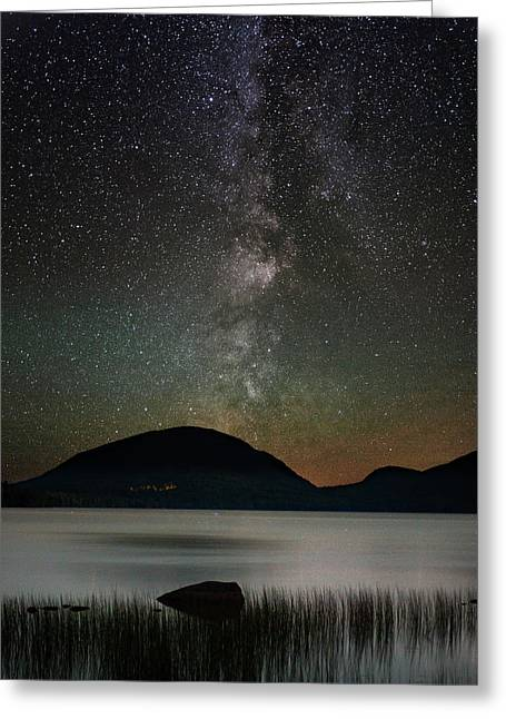 Eagle Lake And The Milky Way Greeting Card