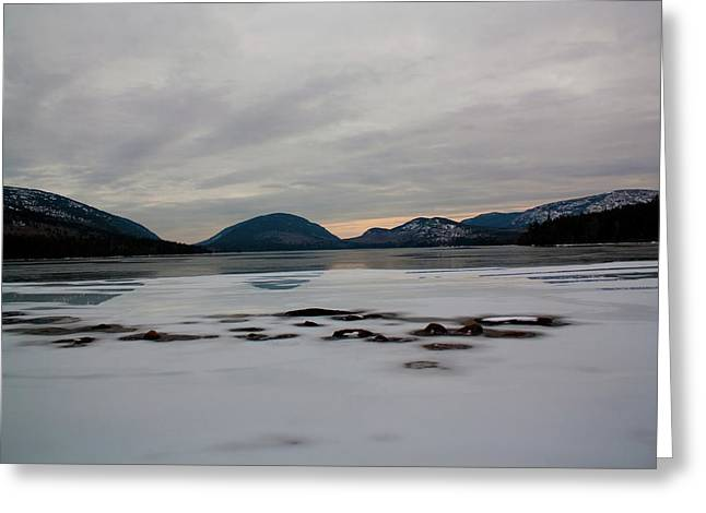 Greeting Card featuring the photograph Eagle Lake Sunset I by Greg DeBeck