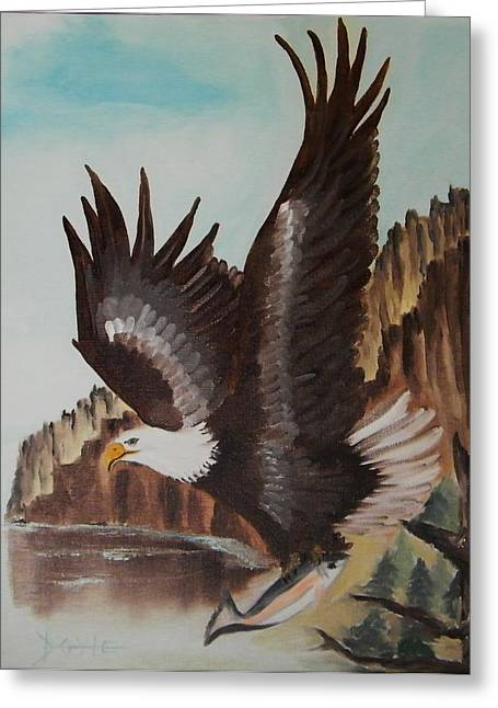 Eagle Mount Greeting Card by Larry Doyle