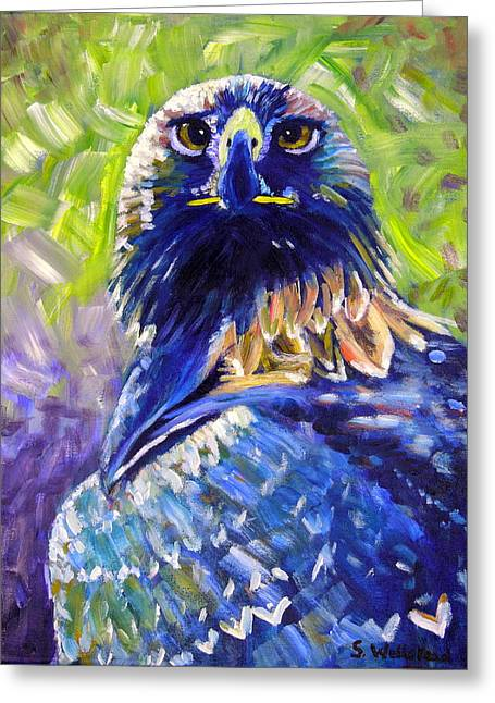Eagle On Alert Greeting Card