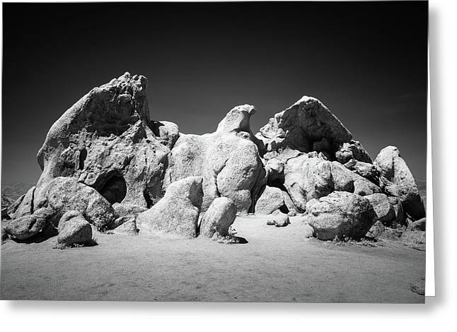 Greeting Card featuring the photograph Eagle Rock Infrared by Alexander Kunz