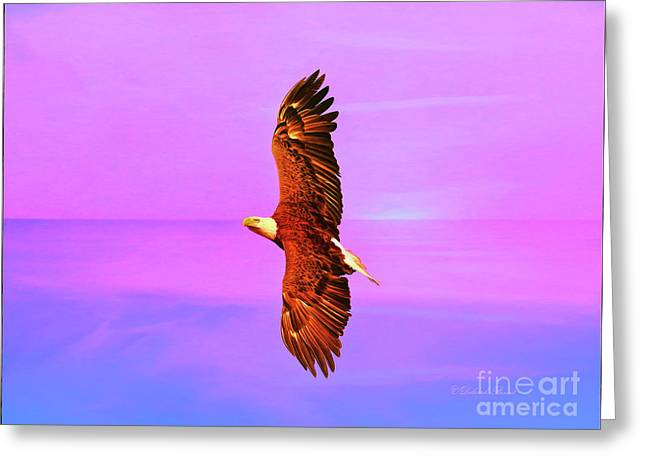 Greeting Card featuring the painting Eagle Series Painterly by Deborah Benoit