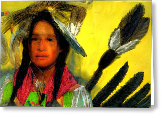 Greeting Card featuring the painting Eagle Spirit by FeatherStone Studio Julie A Miller