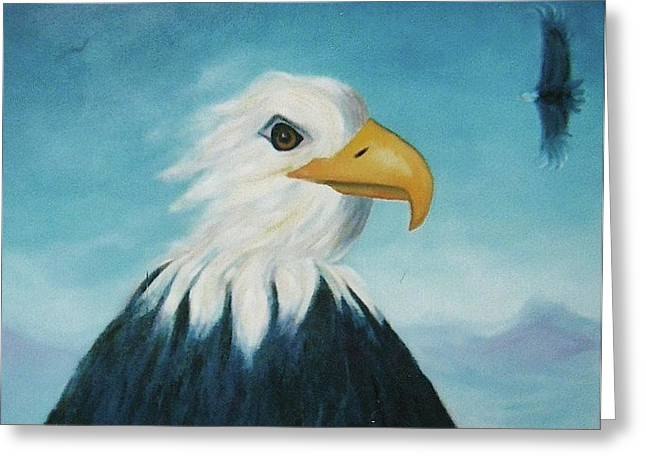 Eagle Greeting Card by Suzanne  Marie Leclair