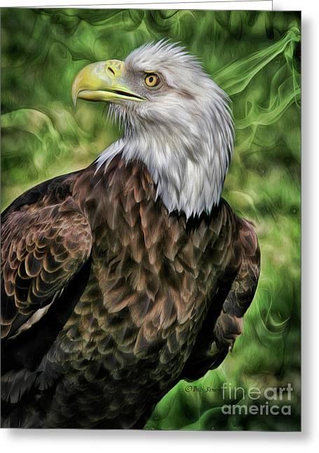 Eagle Vision Greeting Card by Deborah Benoit