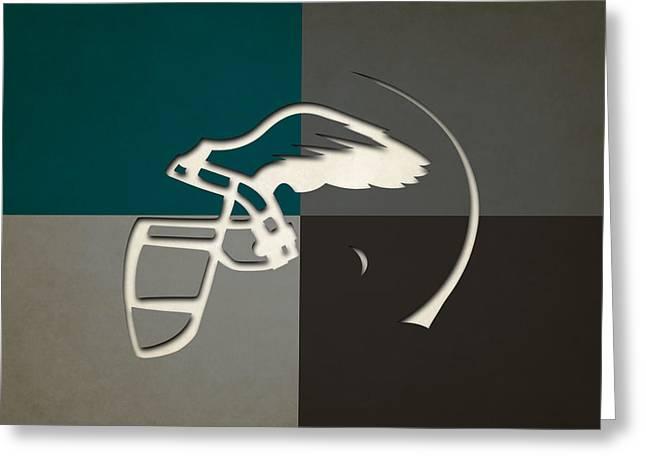Eagles Helmet Art Greeting Card