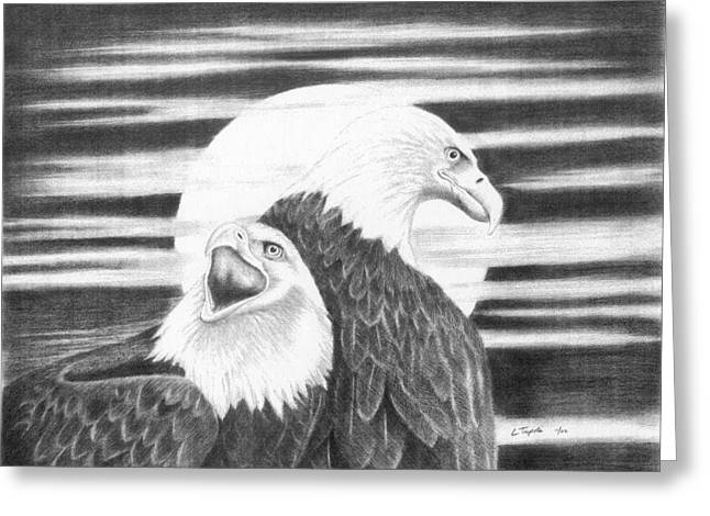 Eagles Greeting Card by Lawrence Tripoli