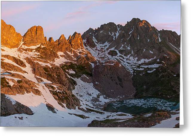 Eagles Nest Wilderness Sunrise Greeting Card by Aaron Spong