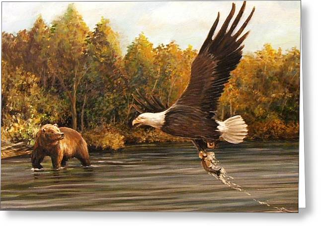 Eagle's Prey Greeting Card
