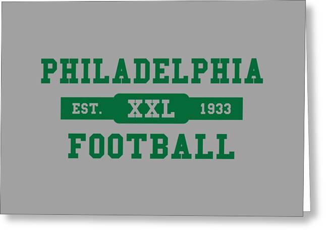 Eagles Retro Shirt Greeting Card by Joe Hamilton