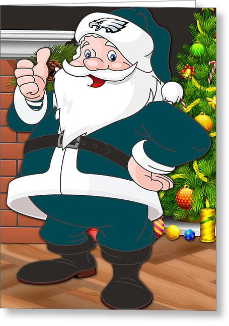 Eagles Santa Claus Greeting Card