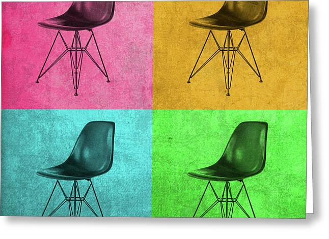 Eames Chair Vintage Pop Art Greeting Card