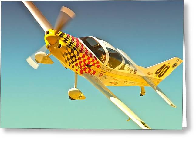Earl Hibler And Sport Race 40 Babydoll 2010 Reno Air Races Greeting Card