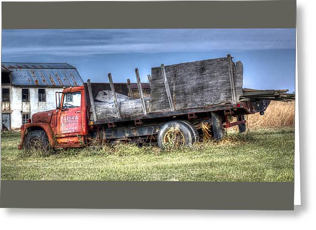 Greeting Card featuring the photograph Earl Latsha Lumber Company - Version 1 by Shelley Neff