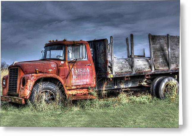 Greeting Card featuring the photograph Earl Latsha Lumber Company Version 2  by Shelley Neff