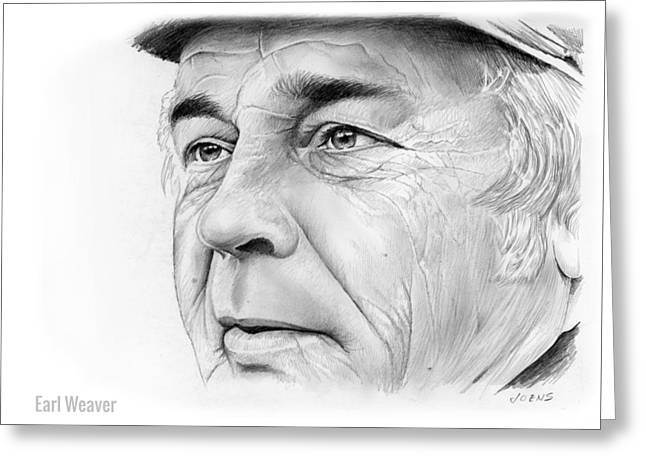 Earl Weaver Greeting Card by Greg Joens