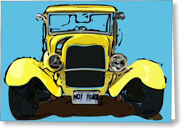 Early 1930s Ford Yellow Greeting Card
