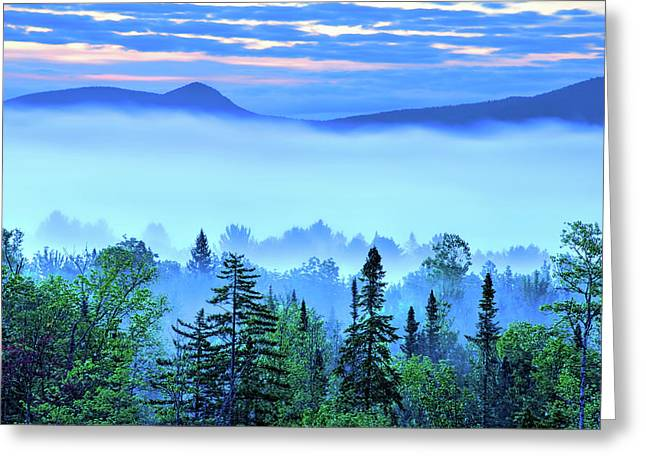 Early Adirondack Morning 1 Greeting Card by Tony Beaver