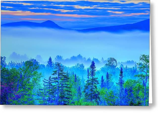 Early Adirondack Morning 3 Greeting Card by Tony Beaver