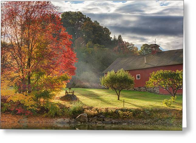 Early Autumn Morning Greeting Card by Bill Wakeley
