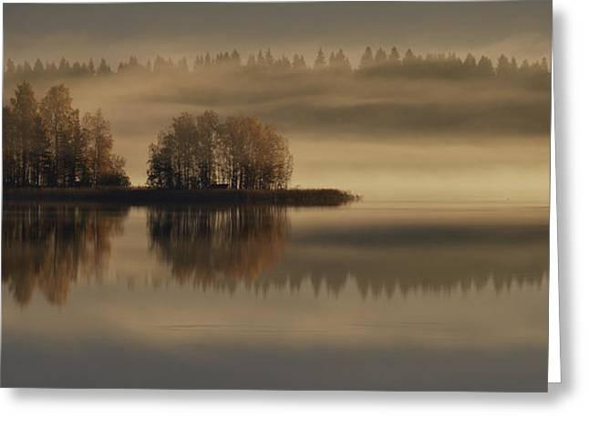 Early Autumn Morning Greeting Card by Pekka Ilari T